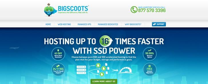 BigScoots fast SSD hosting