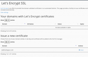 Let's Encrypt is baked into TMDHosting's CPanel, allowing for free SSL certificates with automatic renewal.