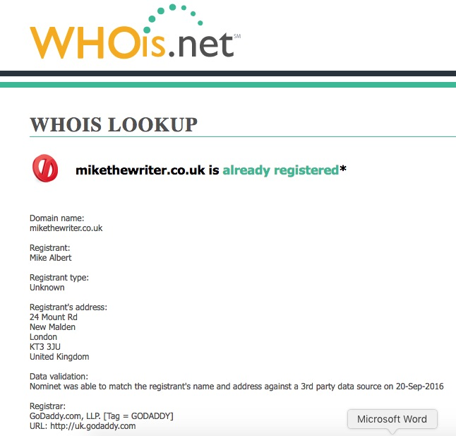 Whois and Domain Age Checker   Web Hosting Sun